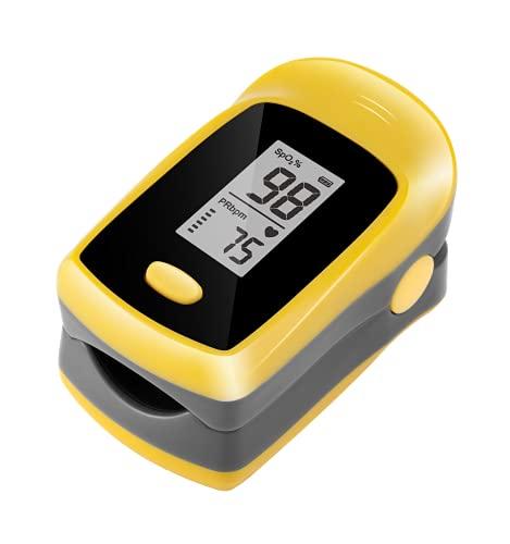 TSAI M50L Fingertip Pulse Oximeter, Oxygen Monitor Finger Spo2 Reading Portable Digital Reading LED Display, Batteries Included