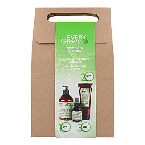 Dikson Muster Dikson Everygreen Anti Frizz Hair Kit (Champú/Mascarilla/Desenredante), Único, Estándar
