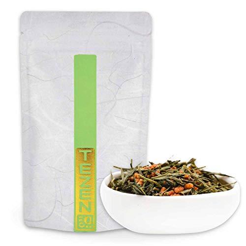 Genmaicha Bio Tee: japanischer Grüner Bio Tee mit Reis | Hochwertiger japanischer Bio Grüntee | Bancha Bio Grüntee mit geröstetem Reis (100 g)