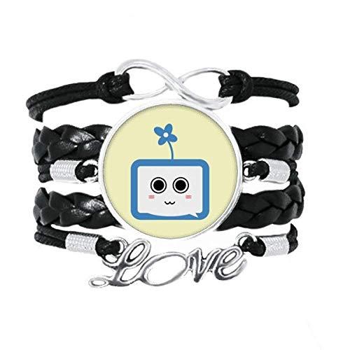 OFFbb-USA Trébol lindo pequeño TV original cara de dibujos animados pulsera amor accesorio trenzado cuerda de tejer pulsera regalo