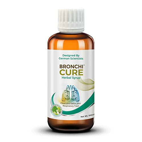 Green Cure Bronchicure Herbal Lung Care syrup Respiratory Wellnness with Ivy Leaf and Thyme Fluid | Paraben & EDTA Free | German Science with Indian Ayurveda - 100 ml