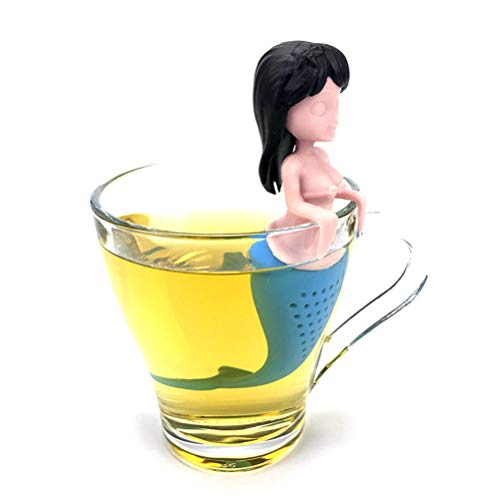 NNGT Colador de té de Sirena Filtro de té de Silicona Infusor de té de Sirena Sexy Mini colador Reutilizable