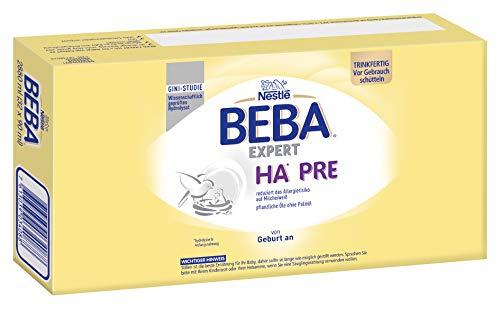 Nestlé BEBA EXPERT HA PRE Hypoallergene Säuglings-Anfangsnahrung, trinkfertig, von Geburt an, 32er Pack (32 x 90 ml)