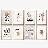 Mia Félice Kinder Poster Set » Wild & Free « 4x DIN-A4 |