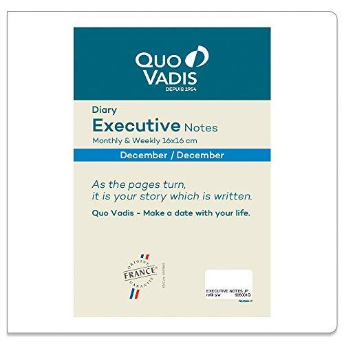 クオバディス エグゼクティブノート リフィル 2020年 手帳 ウィークリー qv906rech-pe (2019年 11月始まり)