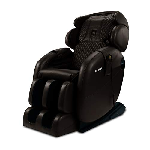 Kahuna Massage Chair LM-6800S U.S Army Edition - Chocolate Brown