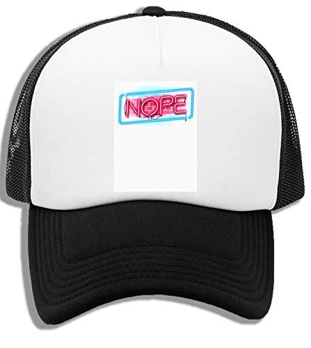 Nope Neon Gorra De Bisbol Unisex Nios Blanca Negra White Black Kids Baseball Cap