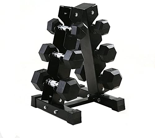 NN/AA 3/6 Tiers Steel Dumbbell Rack,A Double layer Dumbell Holder Home Fitness Weight Rack for Dumbbells (6 Tiers)