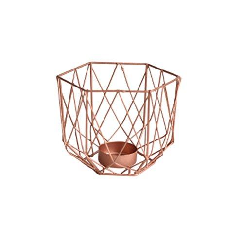 Candlesticks LUYIASI- Nordischen Stil kreative Moderne minimalistische geometrische Schmiedeeisen Kerzenständer Hause Schlafzimmer Kerzenhalter (Gold) (größe : 13X9.8CM)