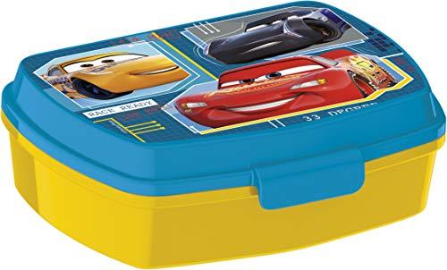 ALMACENESADAN 2043 Sandwichera Restangular Multicolor Disney Cars; Producto de plástico; Libre BPA; Dimensiones Interiores 16,5x11,5x5,5 cm
