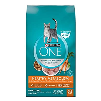 Purina ONE Weight Control, Natural Dry Cat Food, Healthy Metabolism - 3.5 lb. Bag, ONE HEALTHY METABOLISM Cat