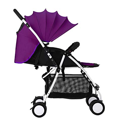 Review Of Yyqtyec Baby Stroller Can Sit Reclining Light Portable Folding All Terrain City Pushchair ...