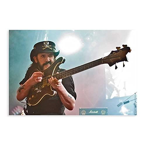 Lemmy Kilmister Motorhead Gitarre, Farbige Wandkunst, Foto, Bild, Musikdruck, Poster, 30 x 45 cm, ohne Rahmen: 1