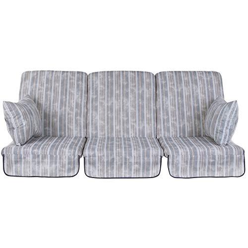 PATIO Auflagen Set Rimini/Venezia 180 cm / 3x60 cm Polster für 3- Sitzer 4- Sitzer Hollywoodschaukel Schaukelauflage Sitzkissen Rückenkissen Seitenkissen