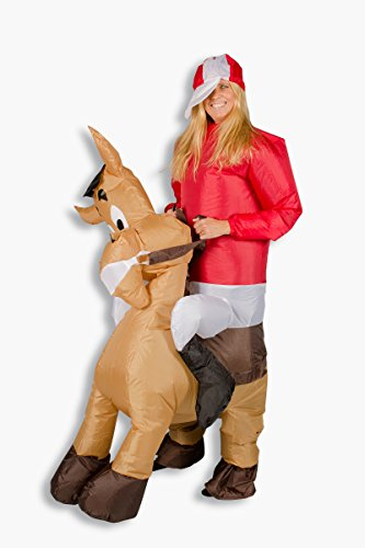Aufblasbares Kostüm Pferd Comic Pony Reiter Karneval Junggesellenabschied Angebot