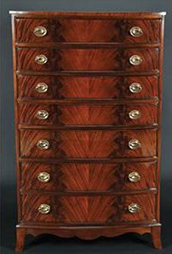 Sale!! Crotch Mahogany Seven Drawer Tall Chest