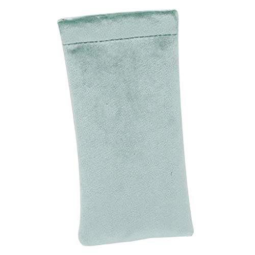 harayaa Estuche para Gafas de Sol de Terciopelo Suave Estuches para Gafas Protector de Bolsa de Almacenamiento para Gafas - Verde, 18x9cm