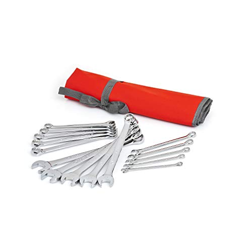 Crescent 15 Pc. 12 Point Metric Combination Wrench Set with Tool Roll - CCWS5