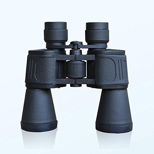 WYJS 10X50 Revêtement Optique à Jumelles Hd Zoom 10 Fois le Voyage par Télescope Essentiel,Noir,10X50