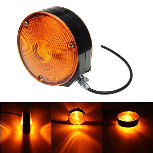 HEHEMM Luz de marcador lateral universal de doble cara redonda LED indicador de luz trasera luz de freno luces de...