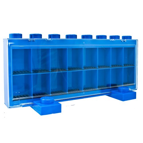 Sablon UT21233 - Lego Minifiguren Schaukasten groß für 16 Figuren, blau