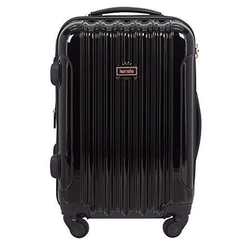 kensie 20' 'Alma' Carry-On TSA-Lock Spinner Luggage, Black