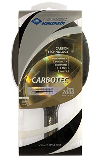 Read About Donic Carbotec 7000 Table Tennis Racket Made with Approved Rubber for Tournament Play
