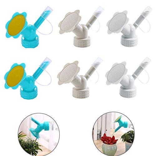VinBee 6 Pack Dual Head Bottle Cap Watering Sprinkler, Bottle Watering Spout Bonsai Watering Can for Indoor Seedlings Plant, Garden Tool