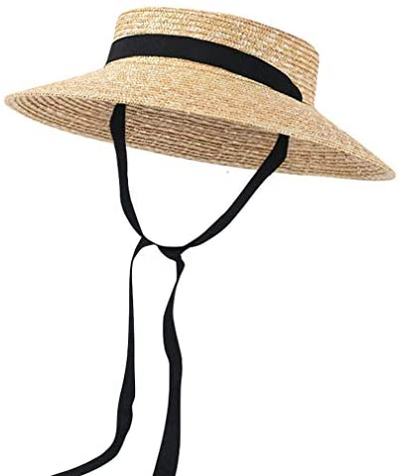 Jelord Womens Elegant Bowknot Straw Bucket Hat Summer Roll Brim Cloche Bucket Straw Hat Beach Sun Cap