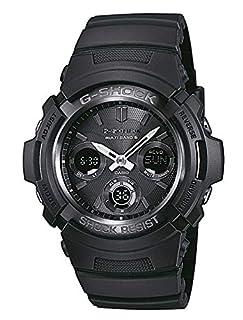 Casio G-SHOCK Reloj Analógico-Digital, Reloj radiocontrolado y solar, 20 BAR, Negro, para Hombre, AWG-M100B-1AER (B007421B4G) | Amazon price tracker / tracking, Amazon price history charts, Amazon price watches, Amazon price drop alerts