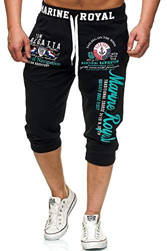 Violento Marine 3646 Shorts (Schwarz/Mint, XL-Slim)