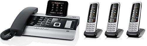 Gigaset DX800A SET mit 3x C430H Mobilteil - VoIP, ISDN, Anrufbeantworter, Bluetooth® ECO DECT