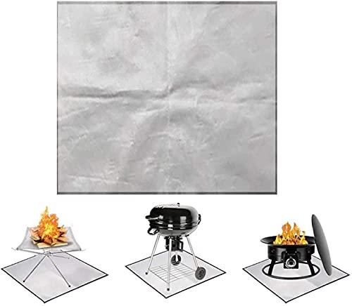 Xinchangda Estera de fuego para chimenea, resistente al fuego, alfombrilla cuadrada para la parrilla al aire libre, terraza, barbacoa, ignífuga, alfombrilla protectora plegable, (100 x 100 cm)…