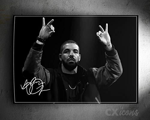 Drake Zitat Foto gedrucktes Poster – aufgedruckte Unterschrift – 18 X 12 Inches (45 x 30 cm)