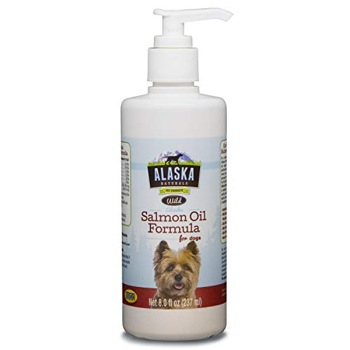 Alaska Naturals - Wild Salmon Oil Formula for Dogs - Omega-3 with DHA and EPA - Nutritional Supplement for Healthy Skin  Shiny Coat - Reduces Shedding - No Artificial Additives - 8oz Pump Bottle…