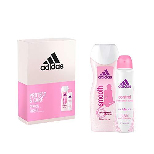 Adidas CONTROL Woman Deospray 150ml + SMOOTH Duschgel 250ml Geschenkpackung, 1 stück