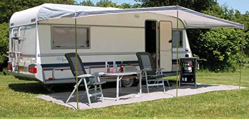 Eurotrail Universal Sonnensegel Sonnensegel 380x240cm für Wohnwagen Größe 740-780cm grau