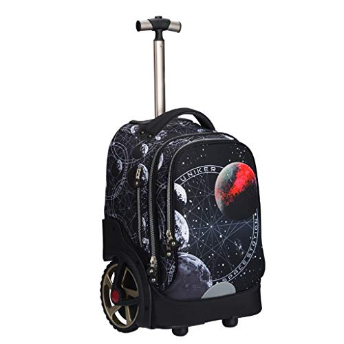 LYRWISHLY Wheeled Backpacks - Nylon Rolling Backpack with Wheels Trolley Backpack for Travel Kids Teenagers Students,Multifunction Wheeled Backpack Luggage (Size : B)