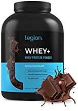 Legion Whey+ Whey Isolate Protein Powder from Grass Fed Cows - Low Carb, Low Calorie, Non-GMO, Lactose Free, Gluten Free, Sugar Free. Great for Weight Loss & Bodybuilding, (5 Pound, Chocolate)