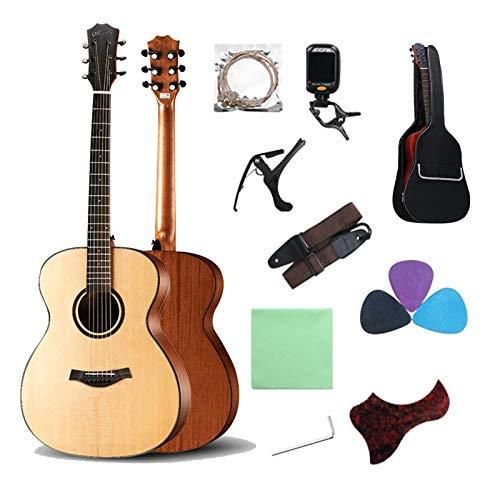YYFANG 40 Pulgadas Guitarra clásica 4/4 tamaño Completo Mano Izquierda Guitarra acustica Abeto de 6 Cuerdas Tablero Superior Caoba Panel Lateral Trasero con Bolsa de Transporte Instrumentos de Cuerda