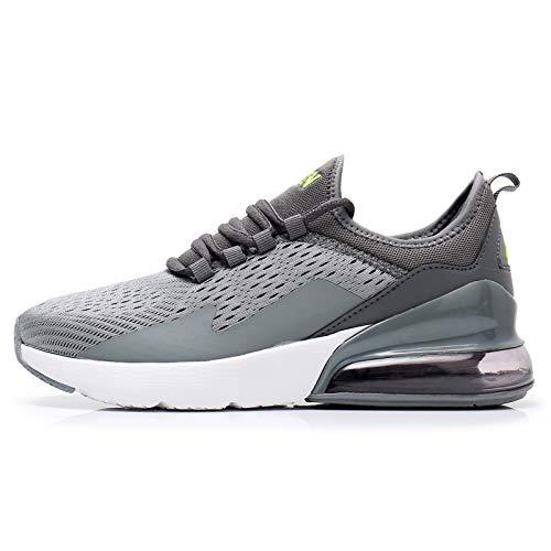 TORISKY Sneaker Herren Damen Air Laufschuhe Turnschuhe Sportschuhe Schuhe Fitness Gym Luftkissen(8999-Grey42)
