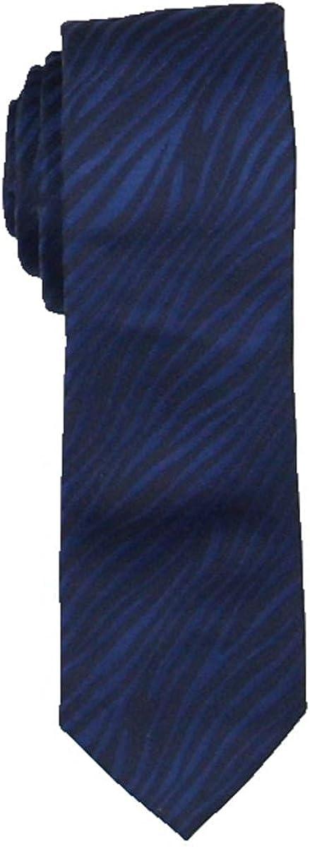 INC Mens Burchell Animal Print Professional Neck Tie Navy O/S