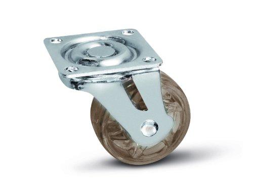 SOTECH Möbelrolle Shift 50 mm braun, Tragkraft 35 Kg, Bockrolle