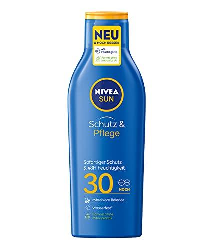 Nivea Sun Schutz & Pflege Sonnenmilch mit verbesserter Formel, Lichtschutzfaktor 30, 1er Pack (1 x 250 ml)