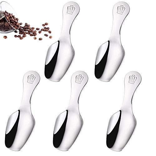 5 Piezas Cuchara de Café de Acero Inoxidable, Cucharas de T