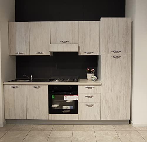 Germanvox - Cocina moderna completa, ángulo de cocción 255 cm, aparatos domésticos incluidos