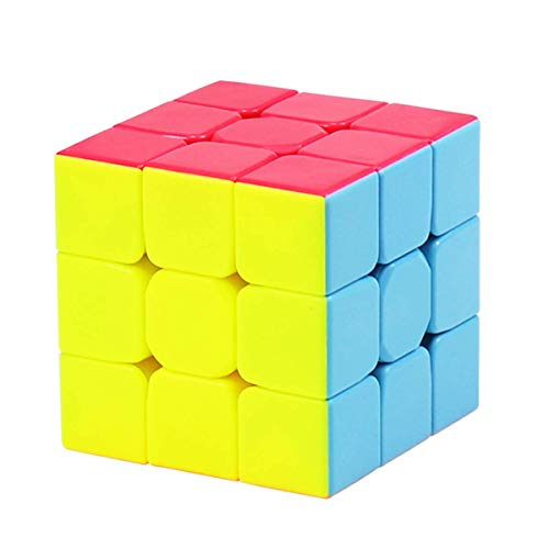 RENFEIYUAN Rubix 3x3 sin Etiqueta, Suave MA 3x3x3 3D Teasers de Cerebro Juguete Educativo para niños Adultos Rubik Cubo