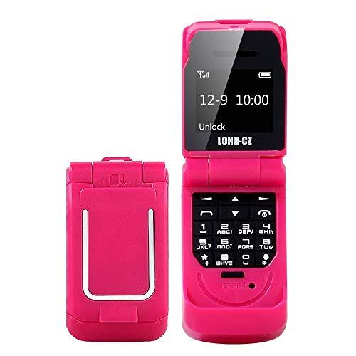Teléfonos móviles desbloqueados y sin SIM Largo CZ J9 Mini Estilo del tirón del teléfono móvil, 0,66 Pulgadas, 18 Teclas, Ayuda Bluetooth, FM, SOS, Anti-perdido, mágico Sonido, etc. (Color : Red)