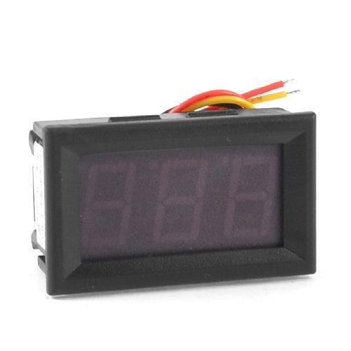 DealMux Red 3 dígitos de 7 segmentos LED Display de tensión de prueba del voltímetro DC 0-200V