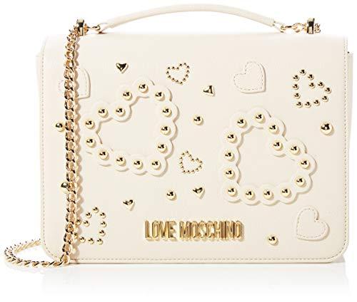 Love Moschino Jc4031pp1a, Borsa a Tracolla Donna, Avorio (Avorio), 7x19x27 cm (W x H x L)